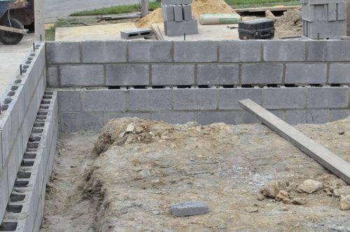 How to build a concrete block foundation one project closer for Cinder block vs concrete foundation