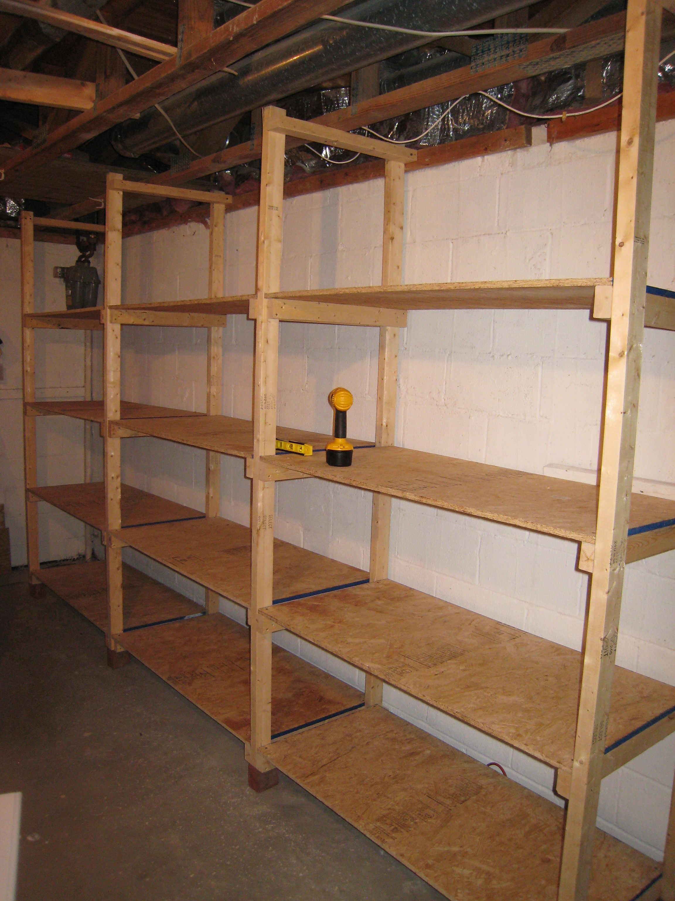 Wood Garage Shelving Plans  How To Build Railings With